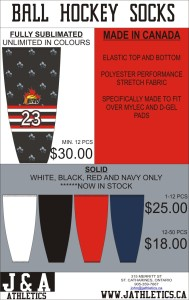BALL HOCKEY SOCKS SOLID