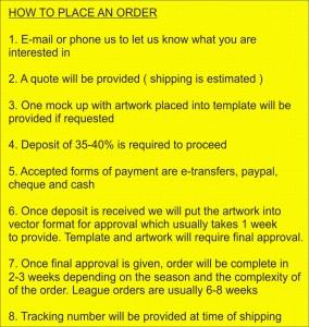 placing order