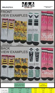 SUBLIMATED SOCKS PRICES
