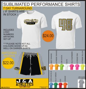 ball hockey performance shirts